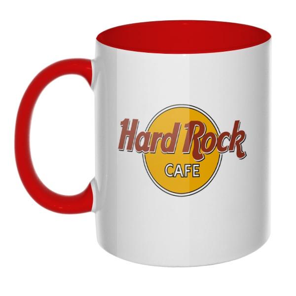 Hard rock cafe, кружка цветная внутри и ручка