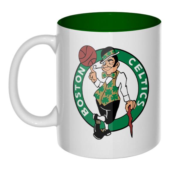 Кружка Boston Celtics, цветная внутри