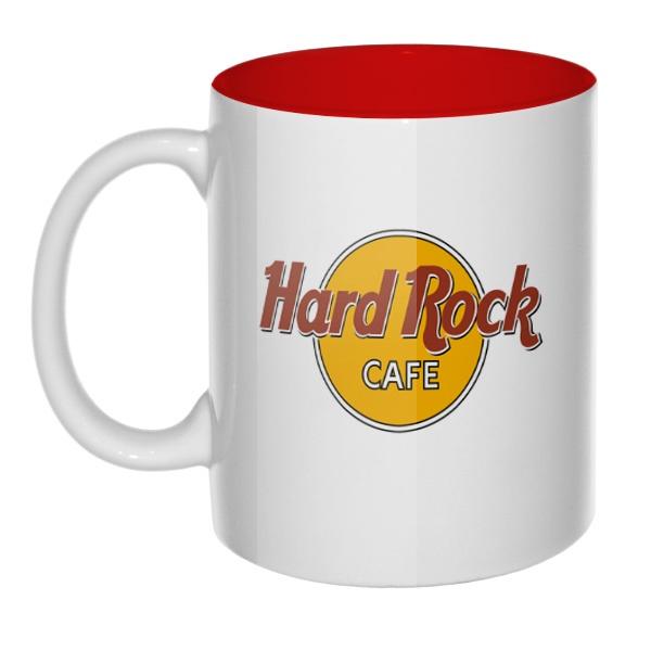 Hard rock cafe, кружка цветная внутри