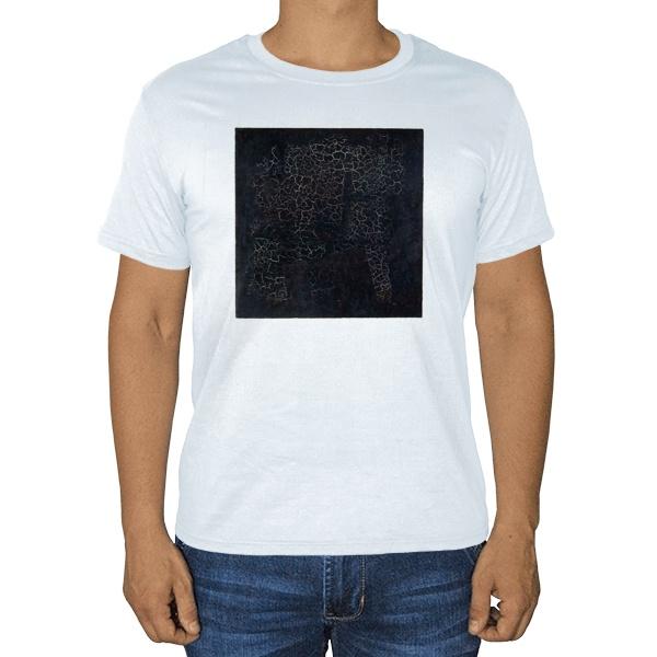 Белая футболка Черный квадрат