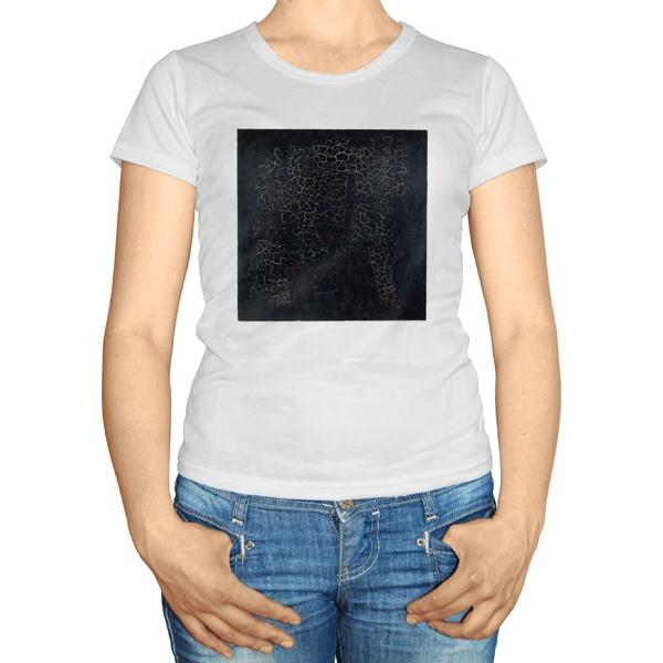 Женская футболка Черный квадрат