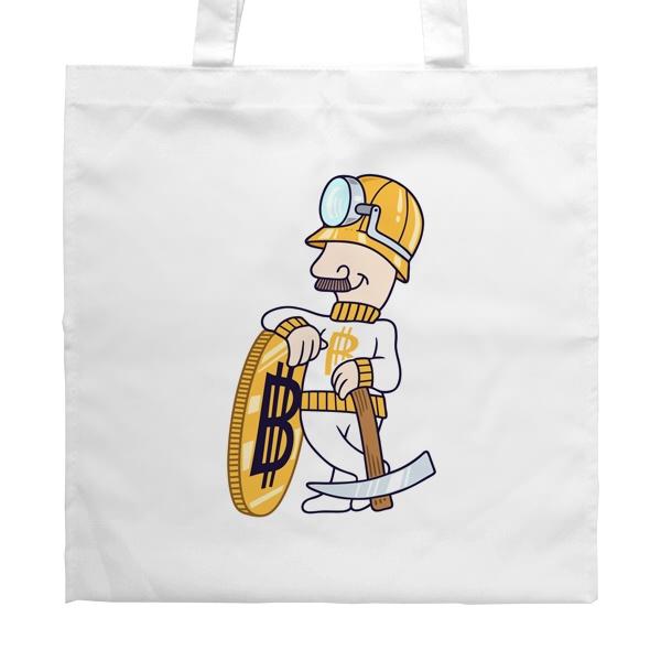 Белая сумка Bitcoin Miner