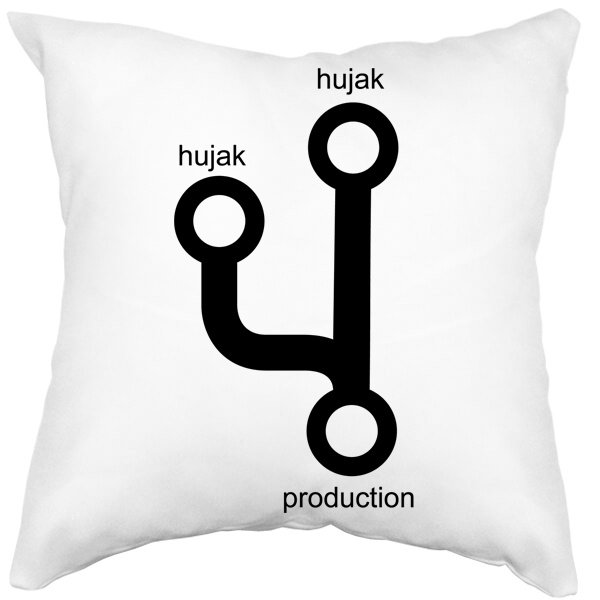 Подушка белая Hujak, hujak и в production