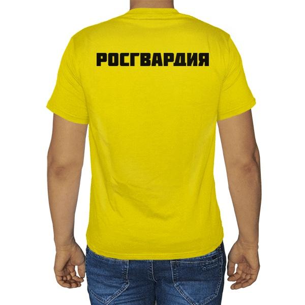 Черная футболка Росгвардия, цвет