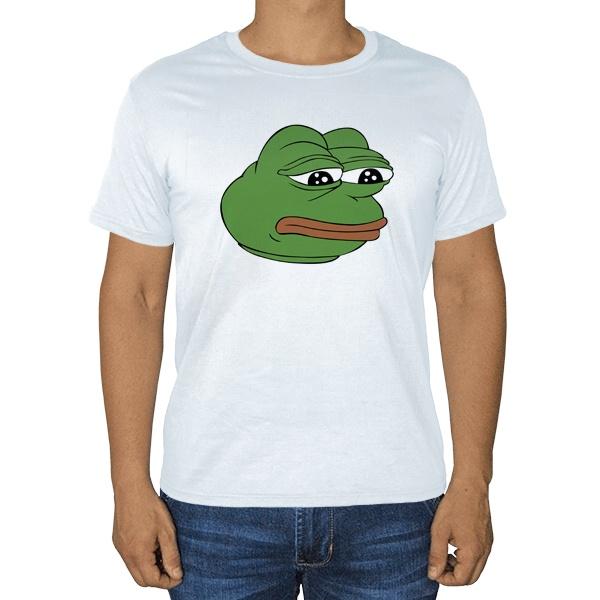 Белая футболка Pepe the frog