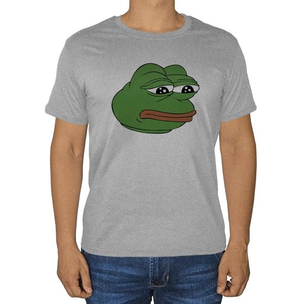 Pepe the frog, серая футболка (меланж)