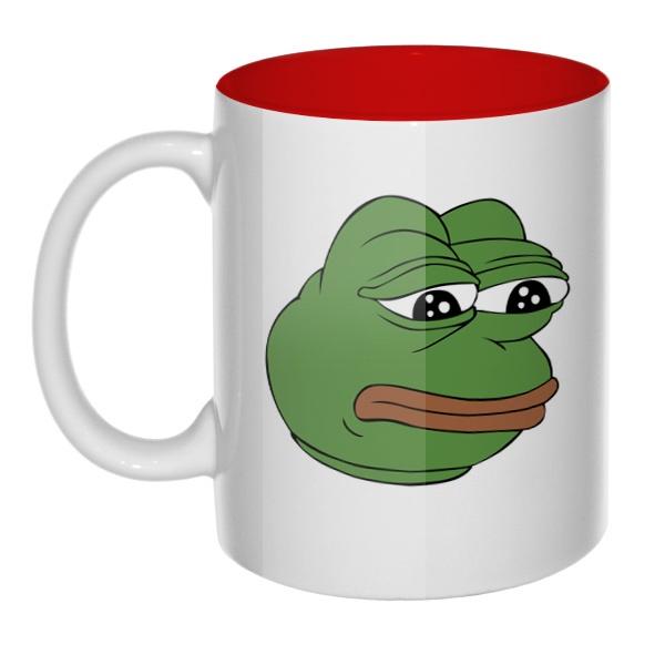 Pepe the frog, кружка цветная внутри