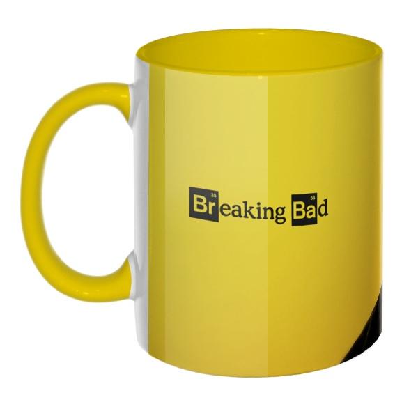 3D-кружка Breaking Bad, цветная внутри и ручка