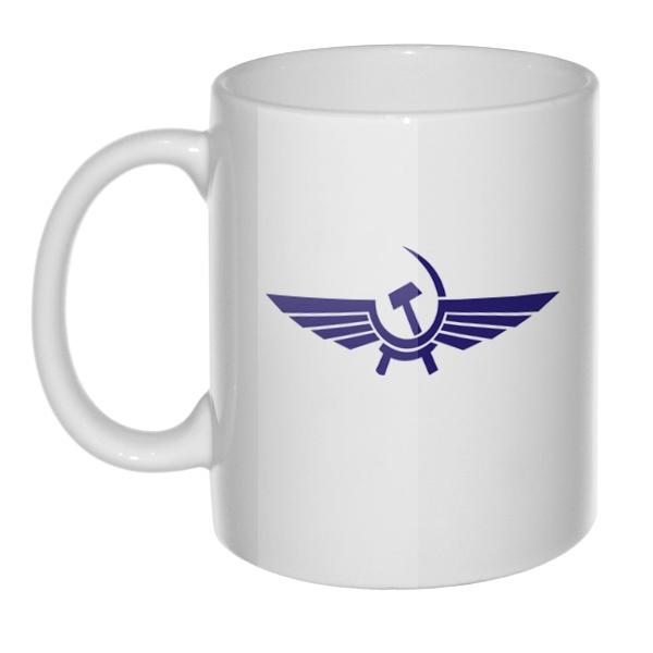 Кружка белая Аэрофлот СССР, цвет белый