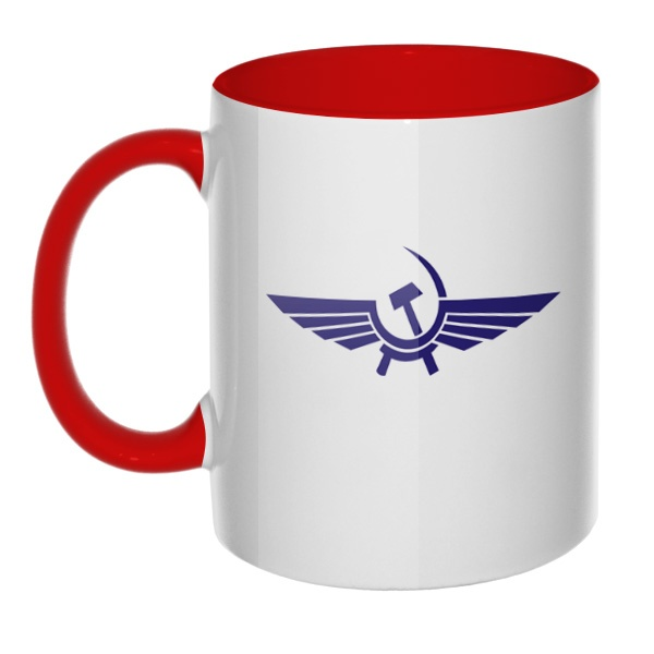 Кружка Аэрофлот СССР, цветная ручка + внутри