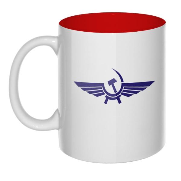 Кружка Аэрофлот СССР цветная внутри