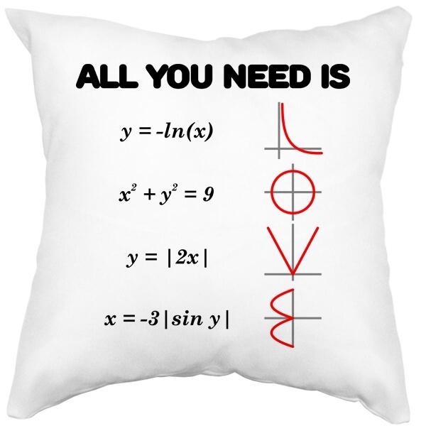 Подушка белая All you need is love