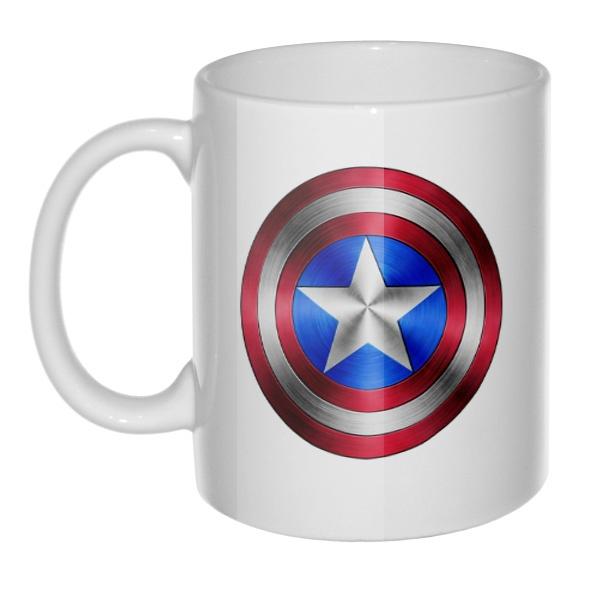 Кружка белая Капитан Америка
