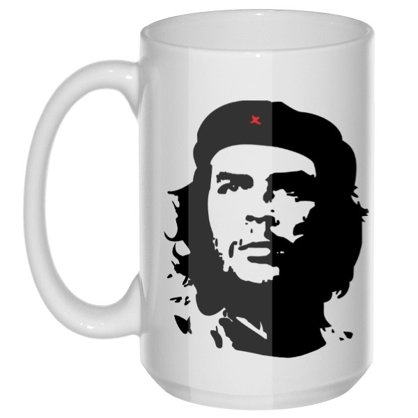 Че Гевара, большая кружка с круглой ручкой