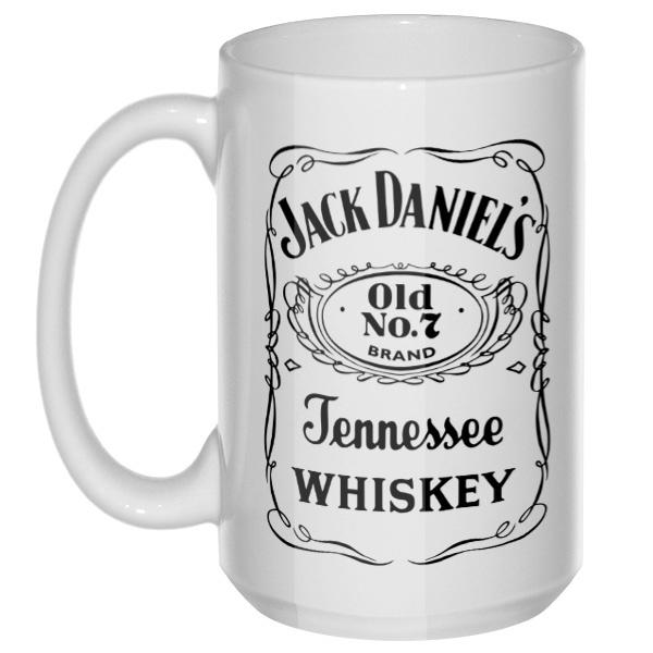 Jack Daniels, большая кружка с круглой ручкой