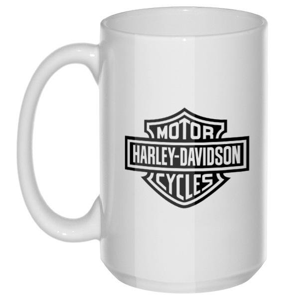 Харли-Дэвидсон, большая кружка с круглой ручкой