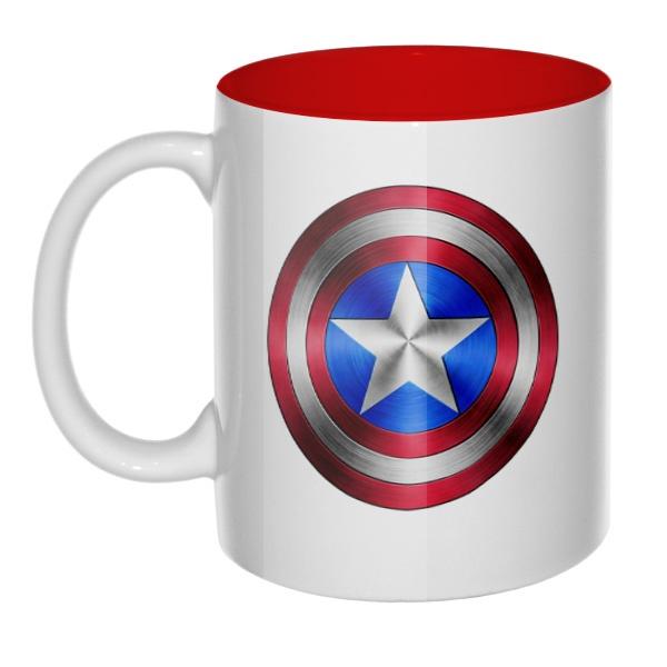 Кружка Капитан Америка, цветная внутри