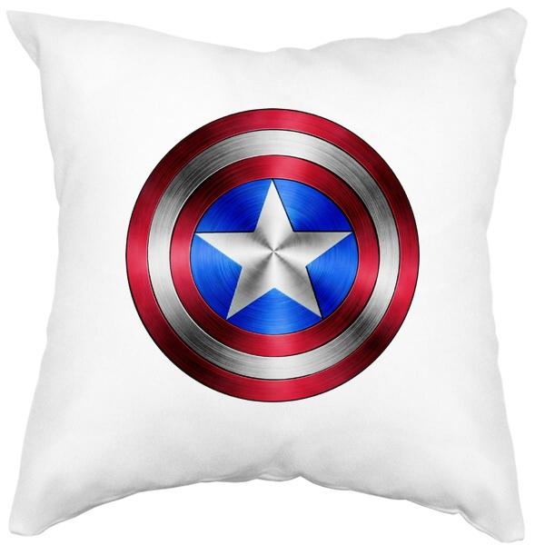 Подушка Капитан Америка, цвет белый