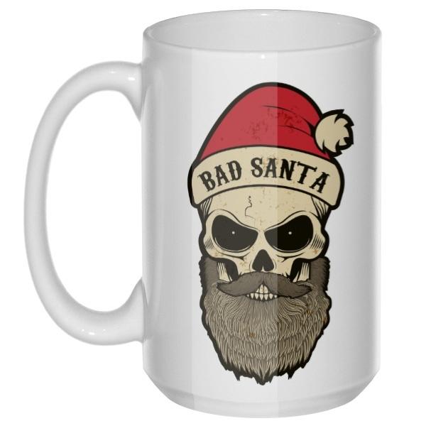 Bad Santa, большая кружка с круглой ручкой