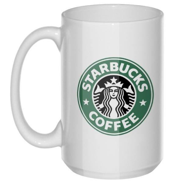 Starbucks Coffee, большая кружка с круглой ручкой