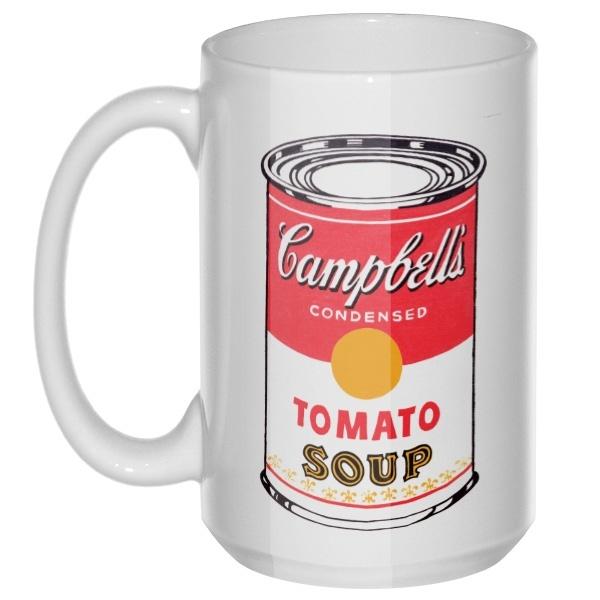 Банка супа Энди Уорхола, большая кружка с круглой ручкой