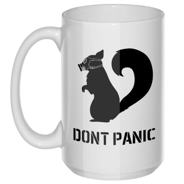 Do not Panic, большая кружка с круглой ручкой