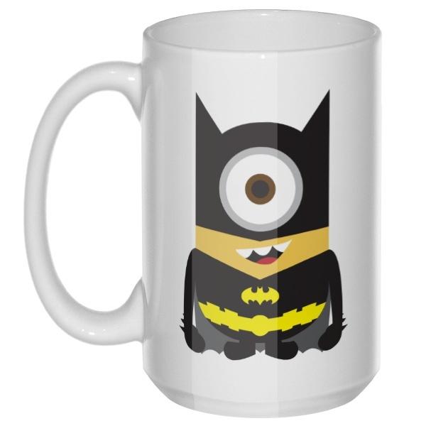 Миньон Бэтмен, большая кружка с круглой ручкой