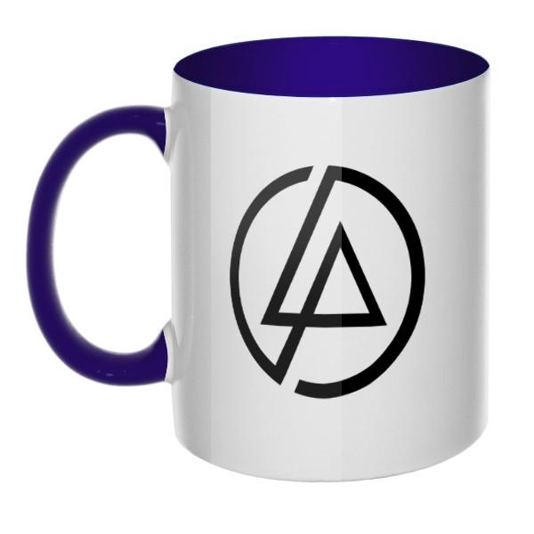 Кружка Linkin Park, цветная ручка + внутри, цвет темно-синий