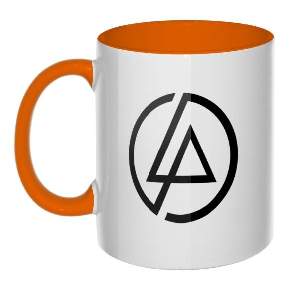 Кружка Linkin Park, цветная ручка + внутри