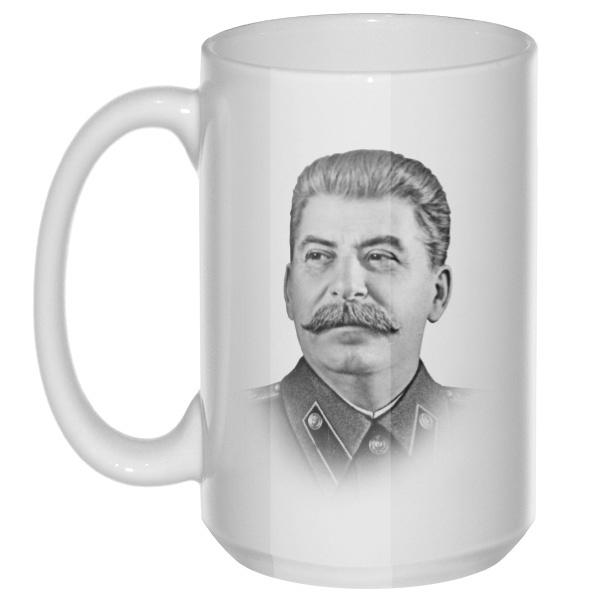 Сталин, большая кружка с круглой ручкой