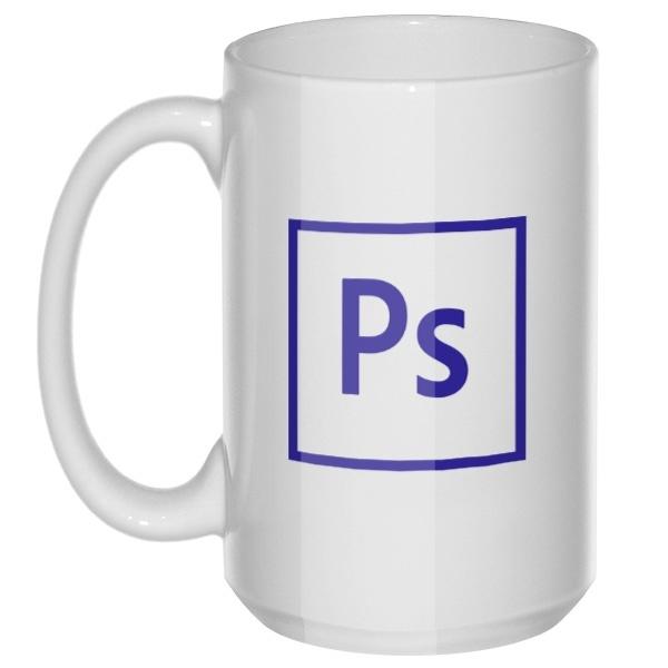 Photoshop, большая кружка с круглой ручкой