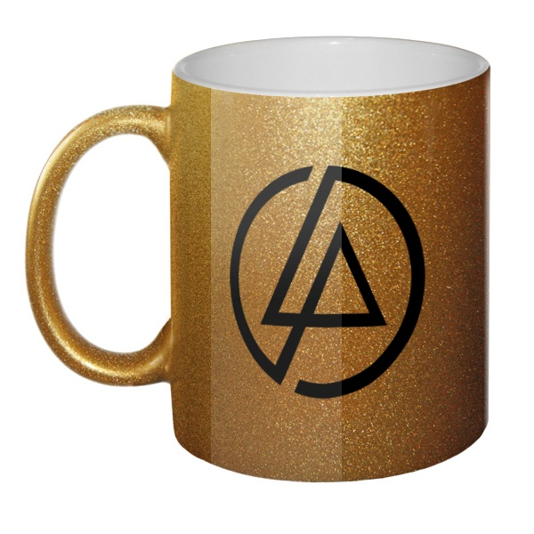 Кружка золотистая Linkin Park, цвет золотистый