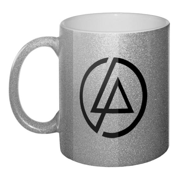 Кружка золотистая Linkin Park
