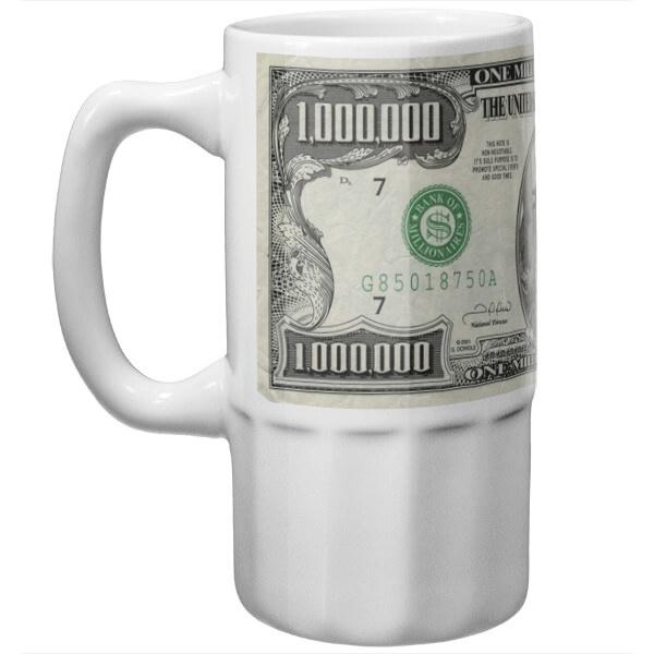 Пивная сувенирная кружка Миллион долларов США