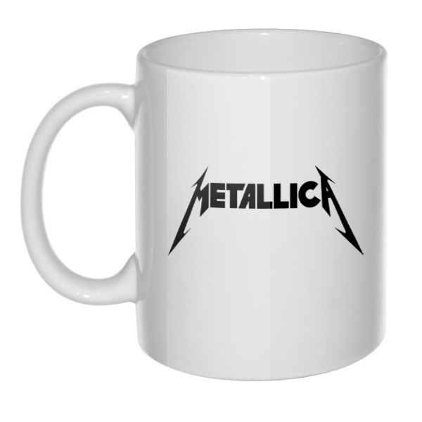 Кружка белая Metallica, цвет белый
