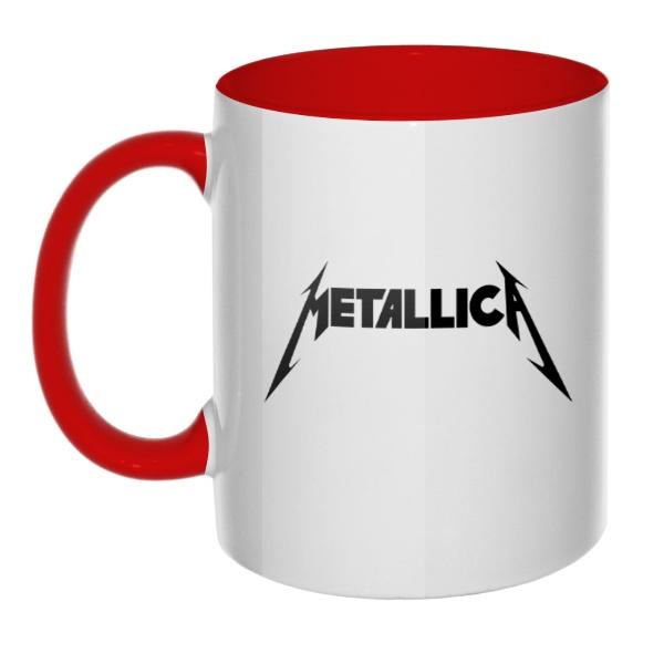 Кружка Metallica, цветная ручка + внутри
