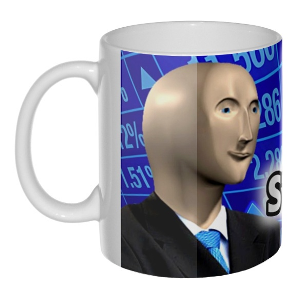 Stonks, 3D-кружка