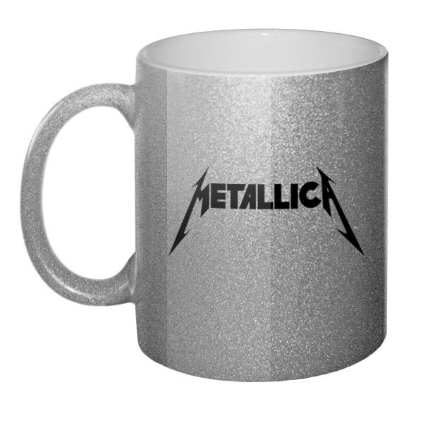 Кружка серебристая Metallica