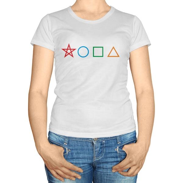 Женская футболка Геометрическая жопа