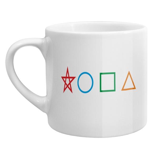 Кофейная чашка Жопа геометрическая