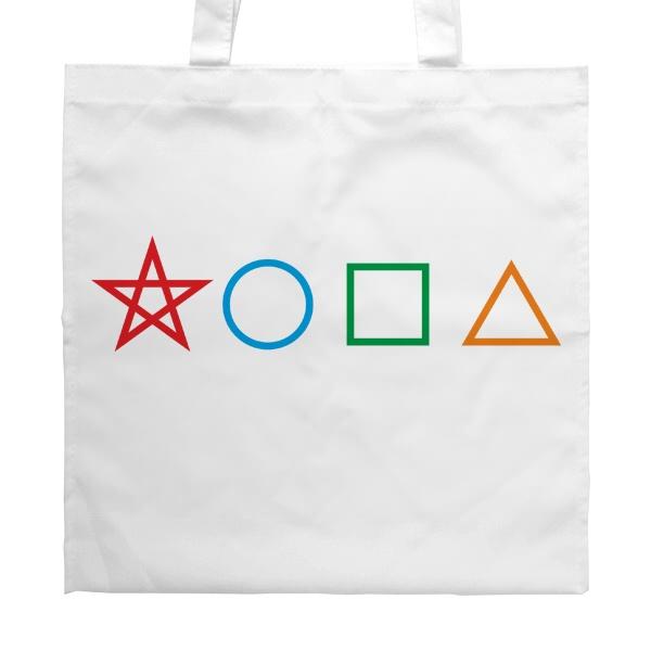 Белая сумка Жопа геометрическая