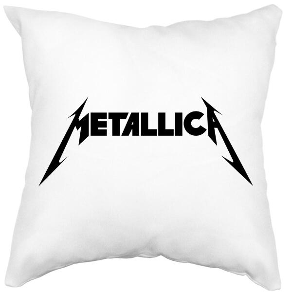 Подушка Metallica, цвет белый