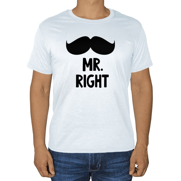 Белая футболка Mr Right