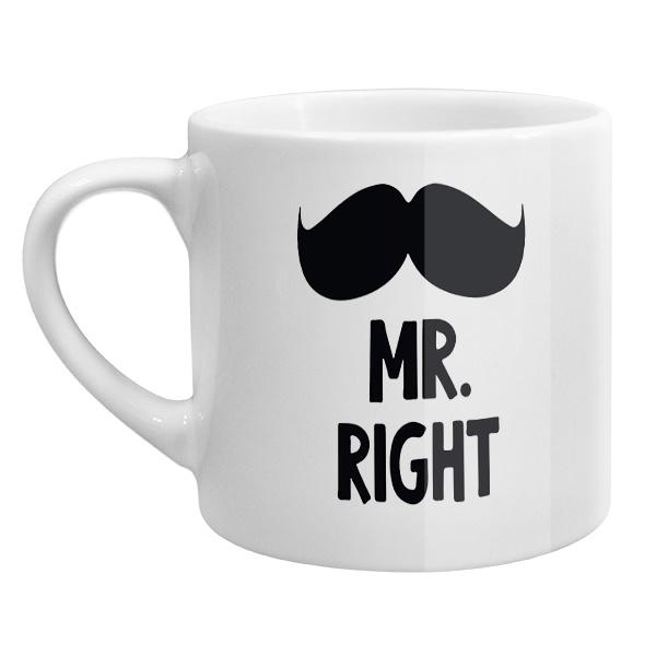 Кофейная чашка Mr Right, Mrs always Right