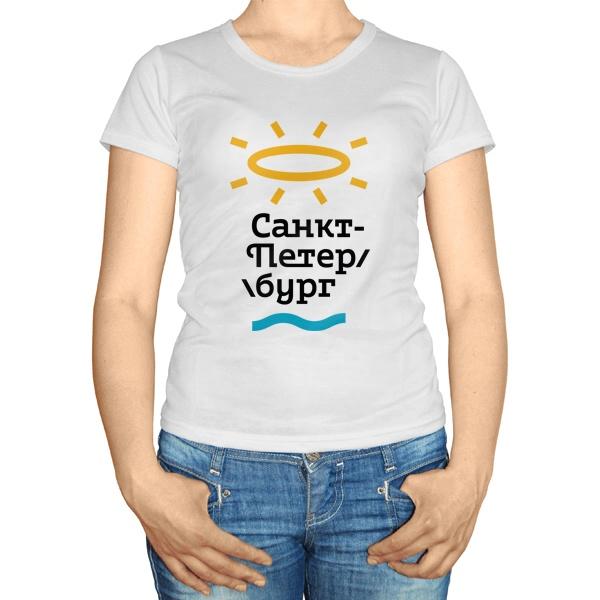 Женская футболка Туристический логотип Санкт-Петербурга от Студии Лебедева