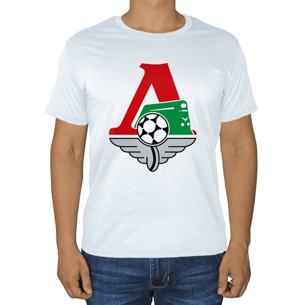 Белая футболка ФК Локомотив Москва
