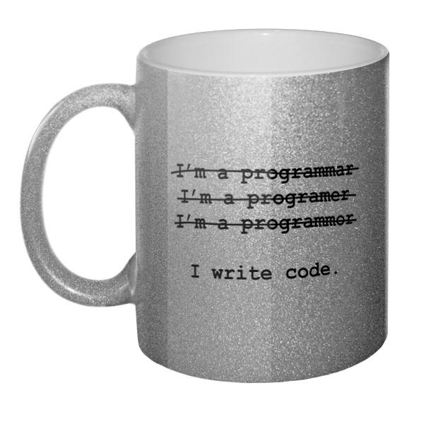 Кружка блестящая Я программист