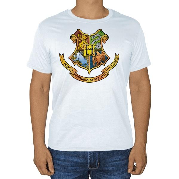 Белая футболка Хогвартс