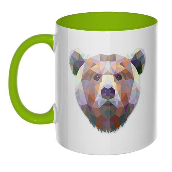 Русский медведь, кружка цветная внутри и ручка