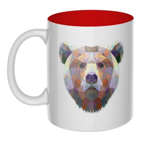 Русский медведь, кружка цветная внутри
